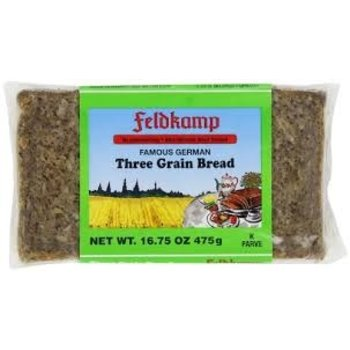 Feldkamp Three Grain Bread - 16 OZ