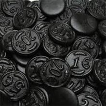 Venco Licorice Coins  2.2 Lb Bag  Reg $11.99