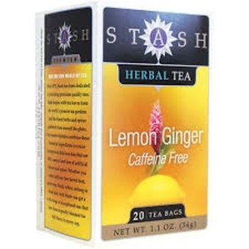 Stash Lemon Ginger tea caffeine free 20 ct box