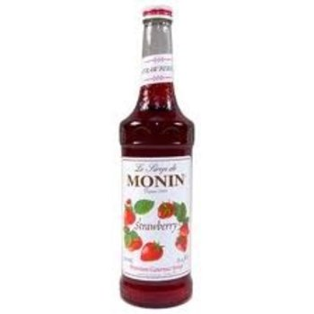 Monin Strawberry Syrup - 25.4OZ glass bottle