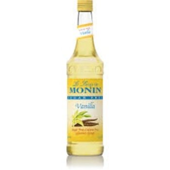 Monin Sugar Free Vanilla Syrup - 25.4OZ glass bottle