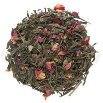 Sencha Kyoto Cherry Rose Flavored Green Loose Tea - 2 Oz Bag