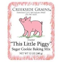 Creekside Grains CG This little piggy sugar cookie mix with cutter - 18 OZ