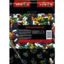 Venco Kleurendrop Colored Licorice Stick - 2.2 LBS bag