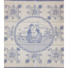 Twenstse Tea Towel Dutch Couple Blue 25x23 inches
