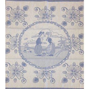 Twenstse Tea Towel Dutch Couple Blue 25x23 inches