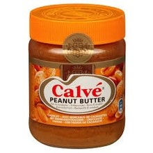 Calve Crunchy Peanut Butter 12 oz jar dated June 24 2018
