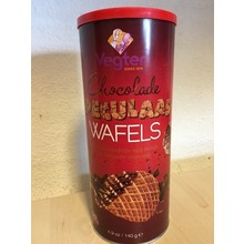Vegter Speculaas waves with Chocolate crispy cookies 4.9 oz tub