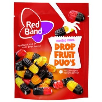Red Band Licorice Fruit Duos 8.9 OZ Bag