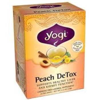 Yogi Peach Detox Organic16 CT