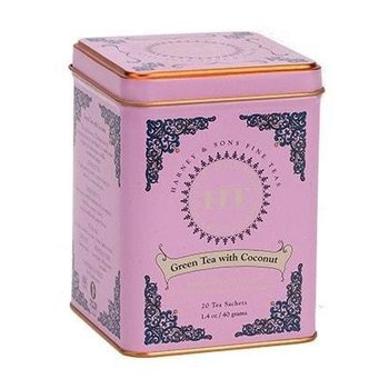Harney & Son H&S Green Tea with Coconut Tin - 20 CT