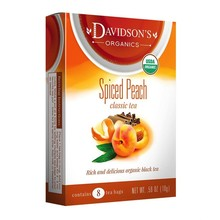 Davidsons DT Spiced Peach tea 8 ct