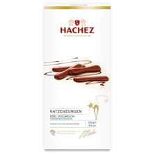 Hachez Katzenzungen Milk Chocolate Cat Tongues 3.5 oz gift box
