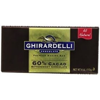 Ghirardelli Chocolate 60% baking bar 4 oz