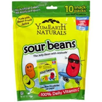 Yummy Earth Sour Jelly Beans natural flavor 2.5 oz bag