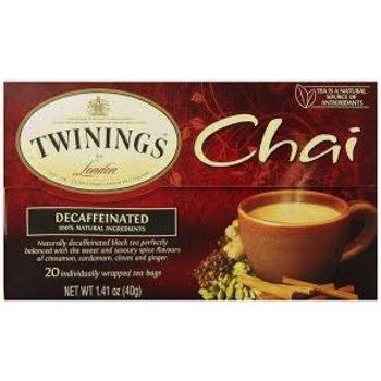 Twinings Decaf Chai tea - 20 ct bags