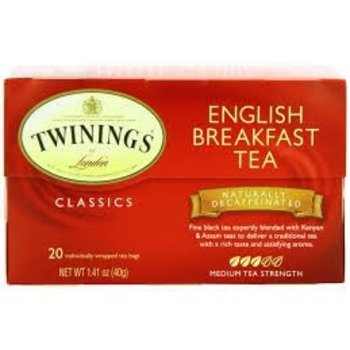 Twinings English Breakfast traditional black tea-20 ct bags
