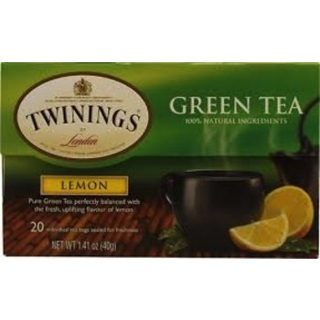 Twinings Lemon flavored green tea - 20 ct bags