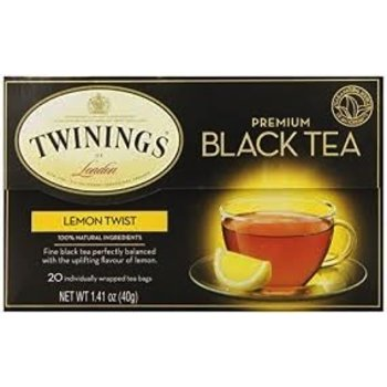 Twinings Lemon twist flavored tea-20 ct bags