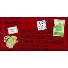 Chocolove Cherry Almond dark chocolate bar 3.2 oz