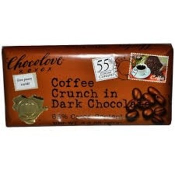 Chocolove Dark Chocolate coffee crunch bar 3.2 oz