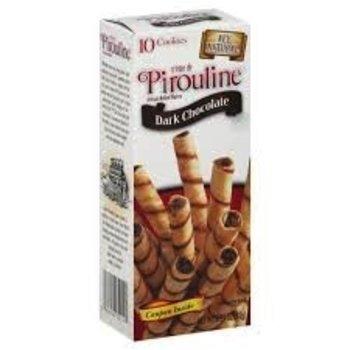 De Beukelaar Pirouline dark chocolate cookie 3.25 oz box
