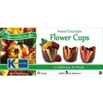 Kane Pastel Chocolate Flower Cups 2.47OZ