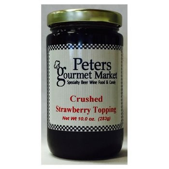 Peters Crushed Strawberry Topping 10.5 OZ