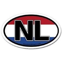 Innovative Ideas Inc Netherlands Oval Car Sticker - EACH