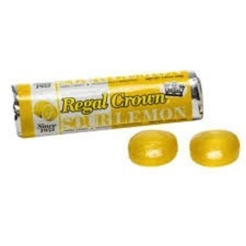 Regal Crown Sour Lemon Candy roll 1 oz