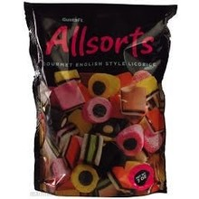 Gustafs Licorice Allsorts 7 Oz Bag