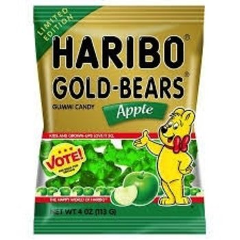 Haribo Apple Gold Bear - 4 Oz bag Limited Edition