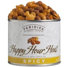Feridies Happy Hour Heat snack mix 9 oz can