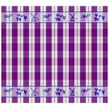 DDDDD Farm Life Blue and Red Tea Towel 24x25