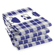 DDDDD Kitchen Navy Blue Tea Towel  24x25