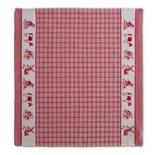 DDDDD Dutchie Red Tea Towel  24x25 inch