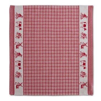 DDDDD Dutchie Red Tea Towel  24x25 inch