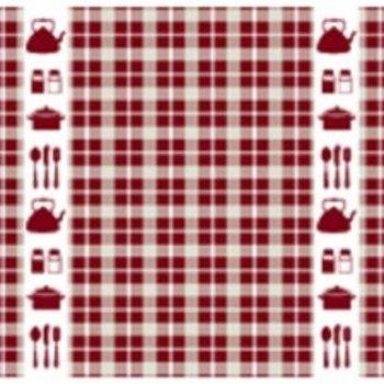 DDDDD Kitchen Red Tea Towel  24x25