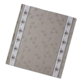 DDDDD Grey Honey Bee Tea Towel  24x25