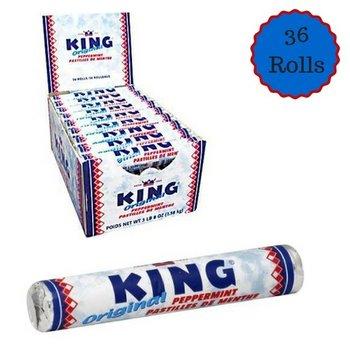 King Peppermint Rolls Box - 36 roll box