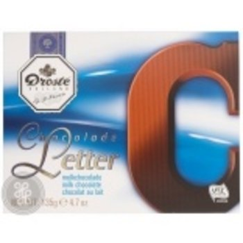 Droste Large C Milk Chocolate Letter - 4.7 OZ