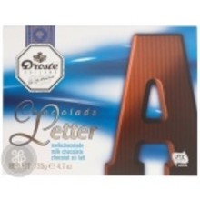 Droste Large A Milk Chocolate Letter - 4.7 OZ