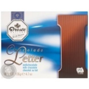 Droste Large I Milk Chocolate Letter - 4.7 OZ