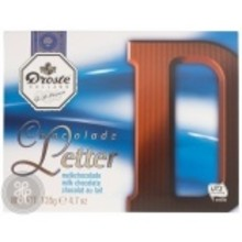 Droste Large D Milk Chocolate Letter, - 4.7 OZ