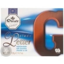 Droste Large G Milk Chocolate Letter - 4.7 OZ