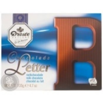 Droste Large B Milk Chocolate Letter - 4.7 OZ