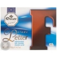 Droste Large F Milk Chocolate Letter - 4.7 OZ