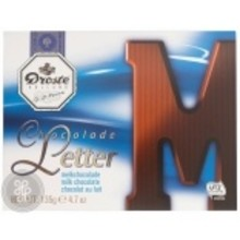 Droste Large M Milk Chocolate Letter - 4.7 OZ
