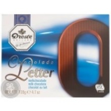 Droste Large O Milk Chocolate Letter - 4.7 OZ