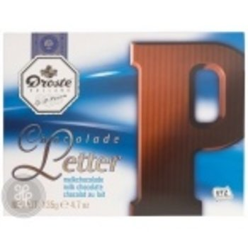 Droste Large P Milk Chocolate Letter - 4.7 OZ